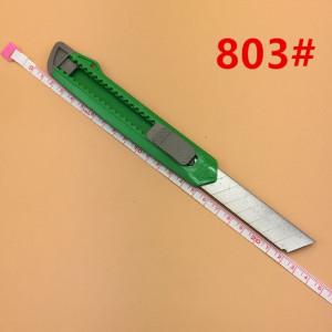 Нож канцелярский лезвие 18мм МИКС #11297