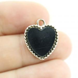 Подвеска Черное сердце #3670