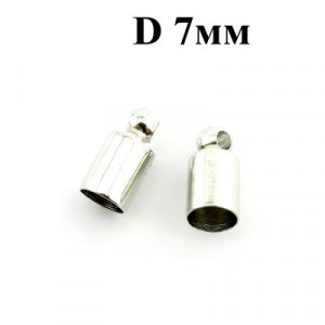 Концевики D=4 Серебро #3754