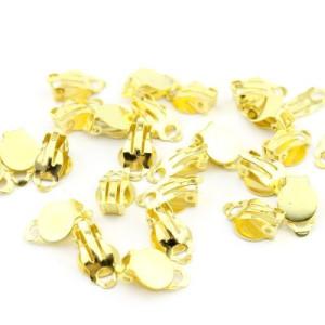 Основы под клипсы Золотые #3802