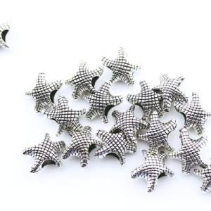 Металлический шарм Звезда 14х14х5 D=5 #1347