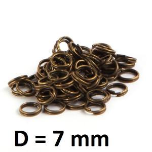 Соед. колечки двойные D=7 мм 1 гр (10шт) #2198