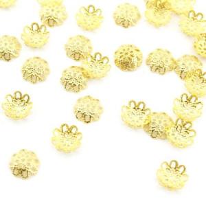 Шапочки 10х3 1гр (12 шт) золото #4900