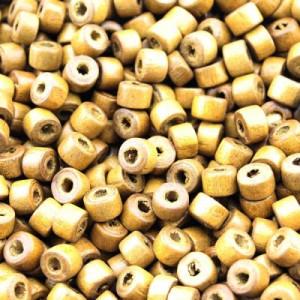 Бусины деревянные 5х7 D=7 мм 1 гр  (9 шт) #1888