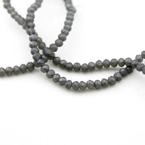 Стеклянные бусины D=3,2 Серебро #11566
