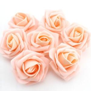 Цветы D=70 Персиковые #4694