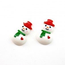 Кабошон Снеговик #5711