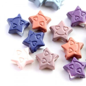 Бусины Звезда с улыбкой 12х6, 1шт МИКС #1653