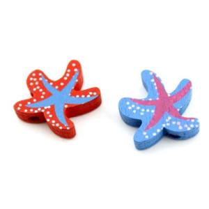 Бусины Морская звезда D=20 МИКС #4080