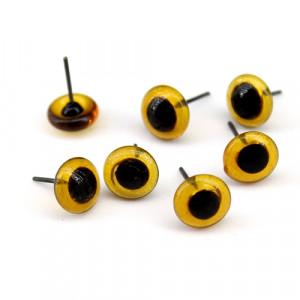 Глаза Стеклянные на гвоздике D=10мм Карие #2056
