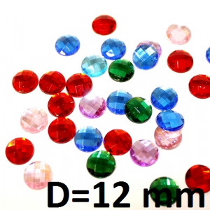 Стразы D=12 мм, 1шт #2205