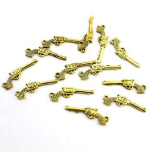 Подвеска Золотой Револьвер #5118