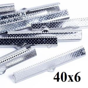 Зажимы для лент 40 мм Серебро #3731