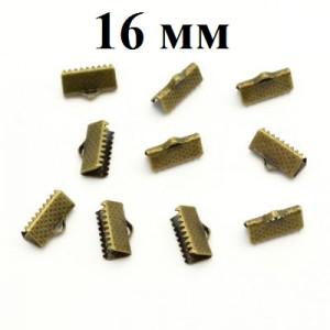 Зажимы для лент 16 мм Бронза #4791