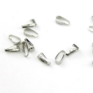 Держатель для кулона 6 мм Серебро #3748