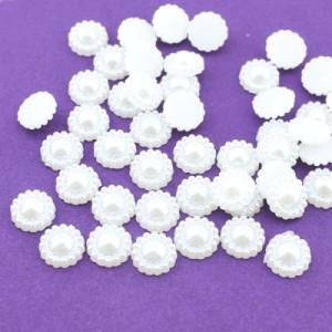 Жемчужинка D=9, 1шт Белая #4136