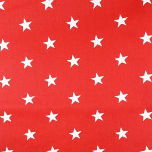 Ткань для пэчворка 40х60см Звёзды на красном #11966