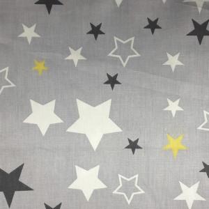 Ткань для пэчворка 40х60см Звёзды на сером #11971