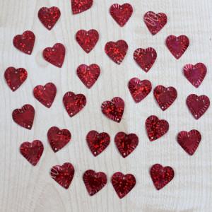 Пайетки Сердечки 16х15мм 10гр (SF-1141) красные #11958