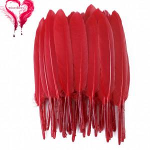Набор перьев 10 шт 15см Красные #12128