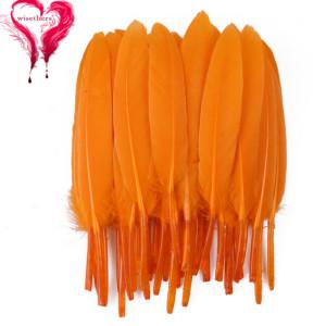 Набор перьев 10 шт 15см Оранжевые #12133