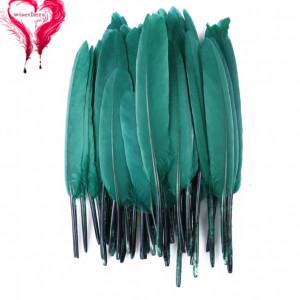 Набор перьев 10 шт 15см Тёмно-зелёные #12136
