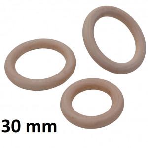 Деревянное кольцо 30мм, 1шт #1364