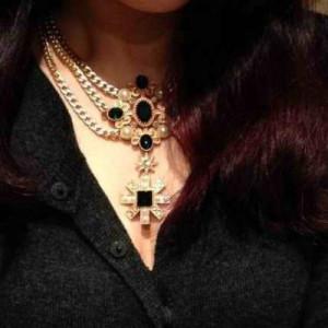 Дизайнерское ожерелье #5738 Синие