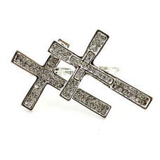 Кольцо с крестами #5988