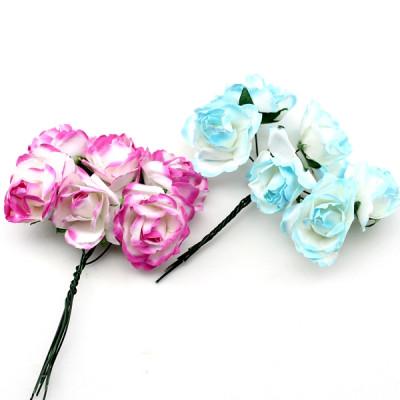 Связка из бумажных цветов 6шт оптом