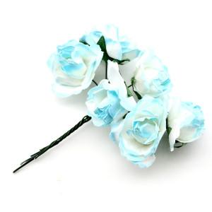 Связка из бумажных цветов 6шт #11684