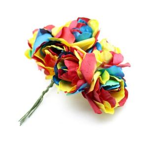 Связка из радужных цветов 6шт #11692