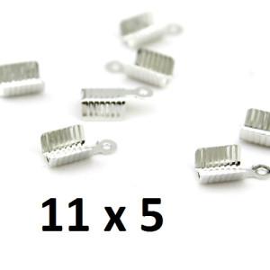 Концевики-Зажимы 14х5х5 мм Серебро, 1шт #2691
