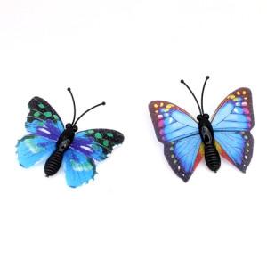 Бабочки с блестками 40мм #4661