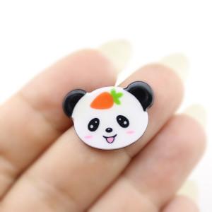 Кабошон Панда с морковкой #5684