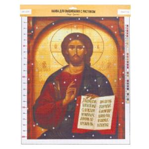 Канва для вышивания с рисунком «Иисус», 47х39 #11903