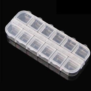 Контейнер для бисера, 12 отделений 13х5х1,5 #11475