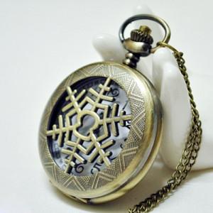 Карманные часы Снежинка #6941