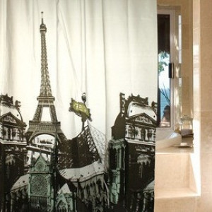 Занавеска для душа Париж #7351
